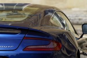 Aston Martin Vanquish blue A4