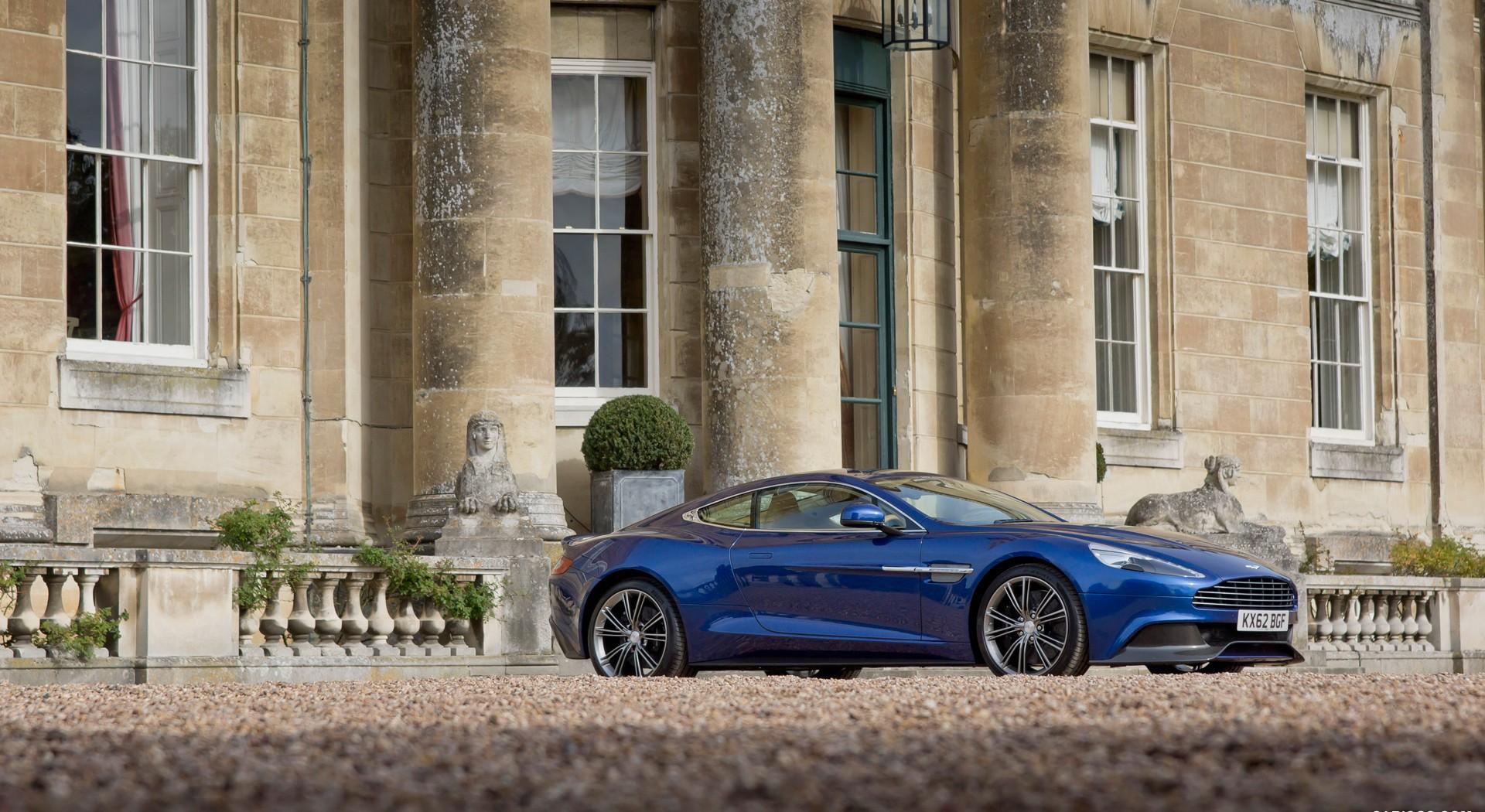 Aston Martin Vanquish blue cool