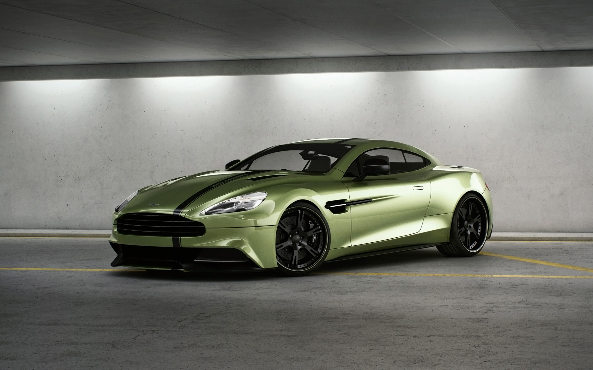 Aston Martin Vanquish green awesome
