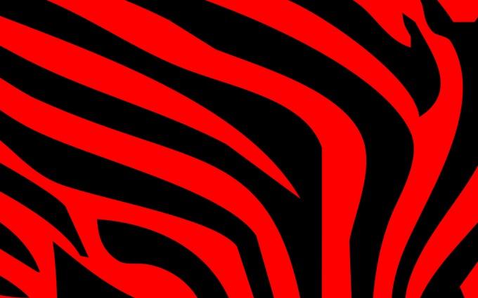 Red zebra print wallpapers