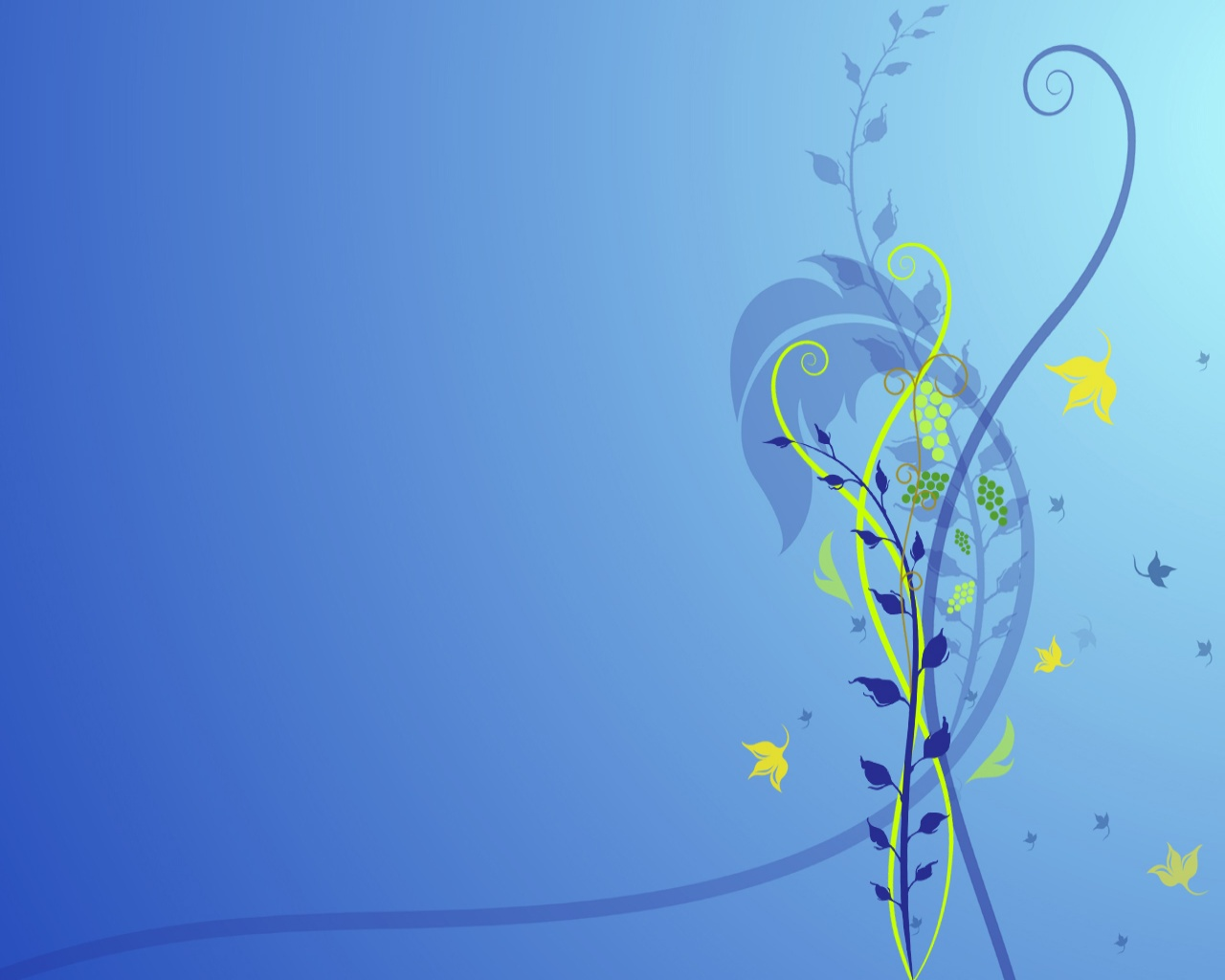 abstract wallpapers hd blue  flower 2