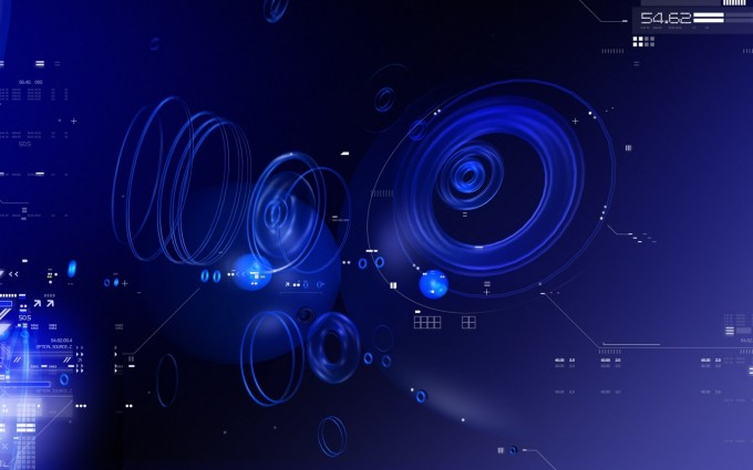 abstract wallpapers hd blue tech circles