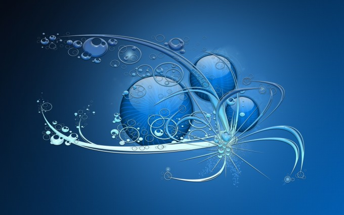 abstract wallpapers hd blue  widescreen