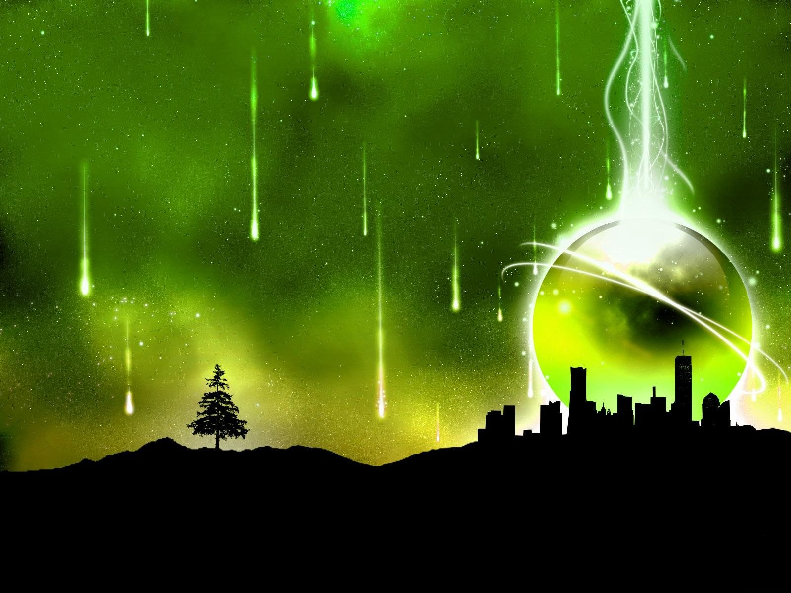 abstract wallpapers hd city green