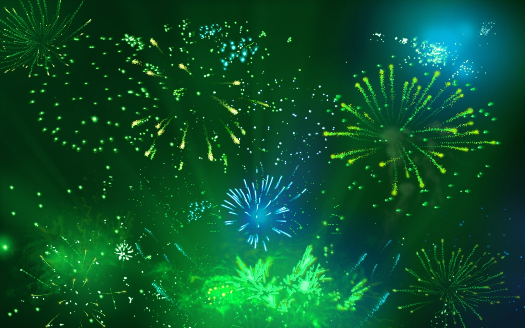 abstract wallpapers hd fireworks green
