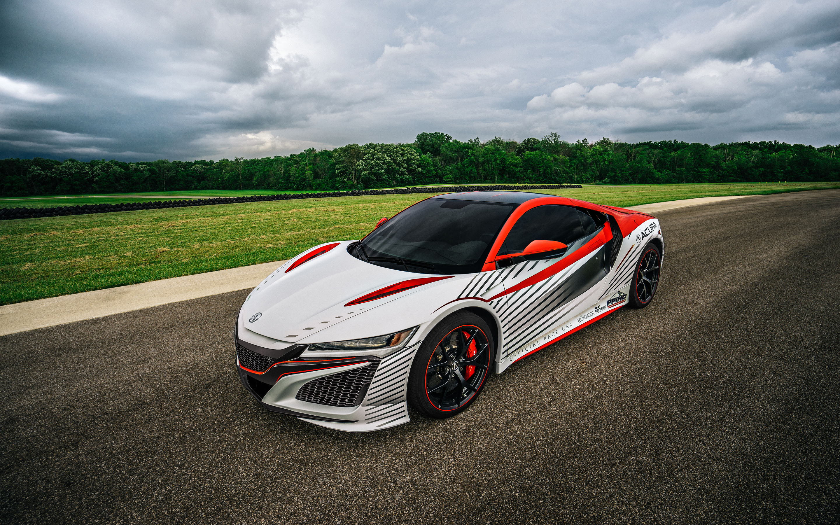acura nsx red white