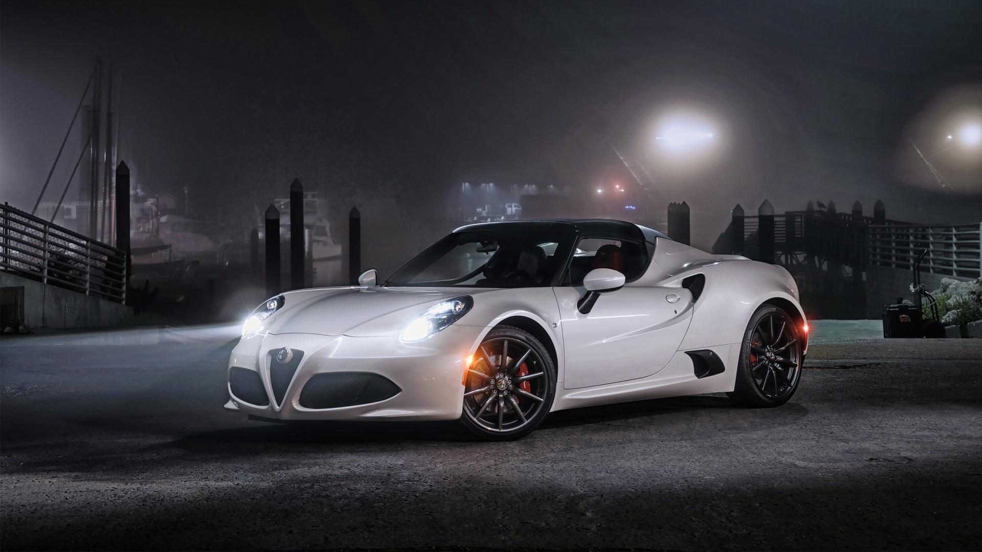 Alfa Romeo 4c 2015 Spider Hd Desktop Wallpapers 4k Hd