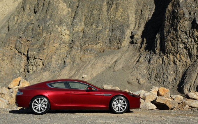 aston martin rapide red