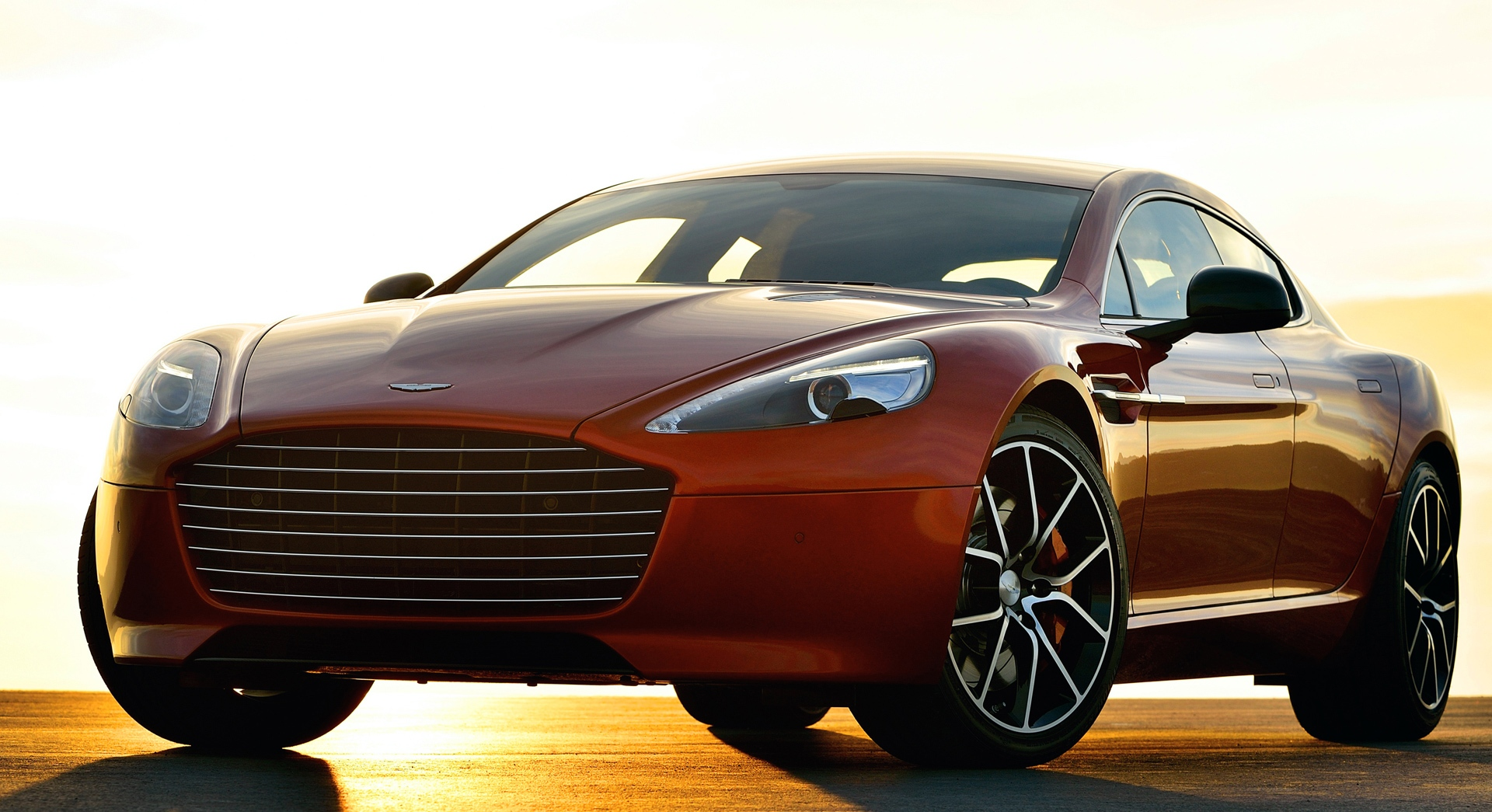 aston martin rapide sunset hd
