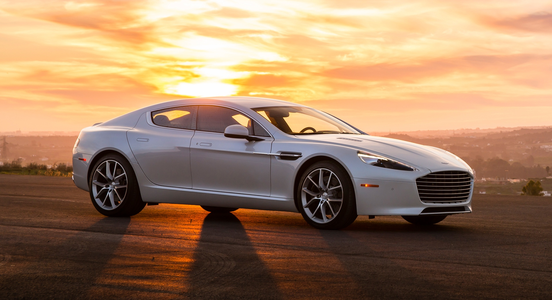 aston martin rapide sunset