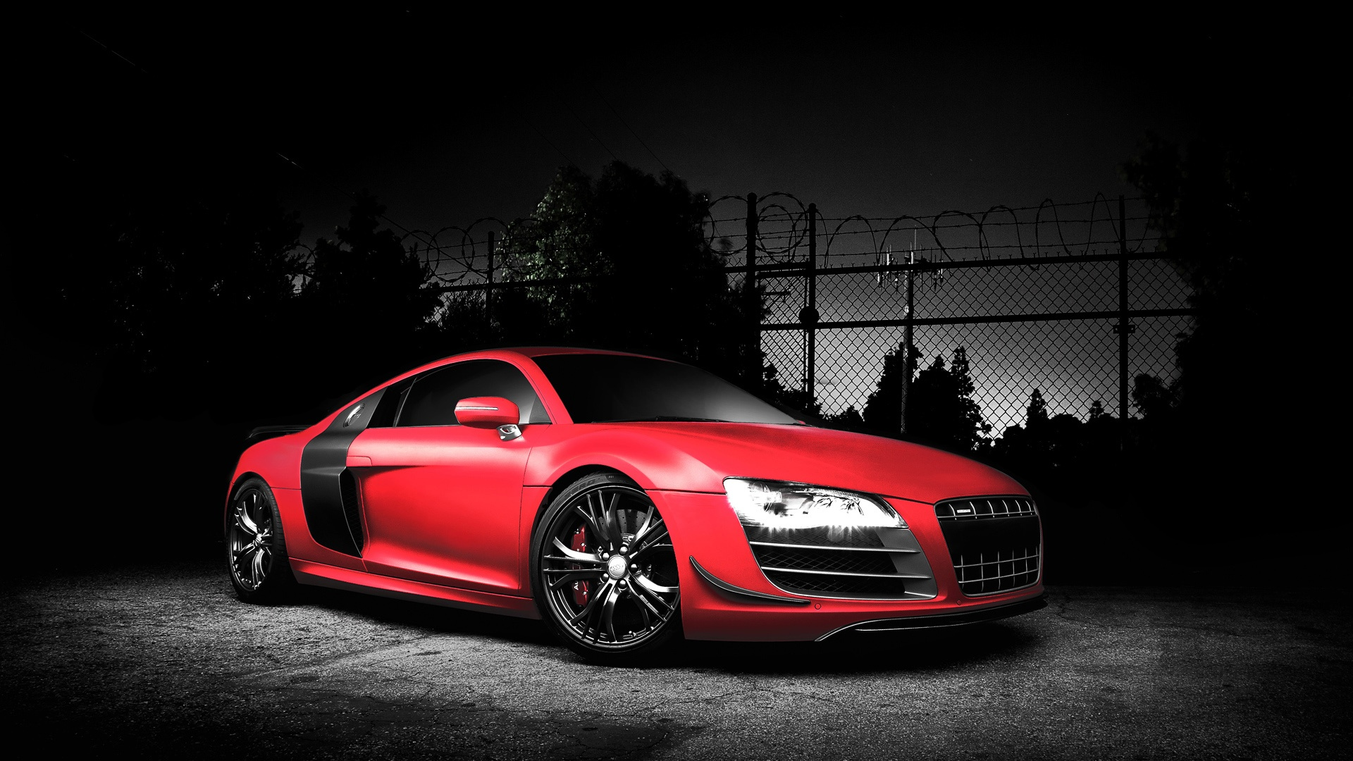 audi r8 red awesome