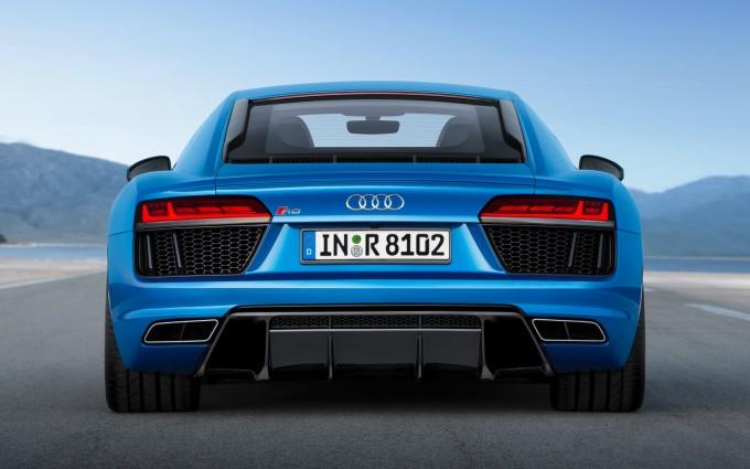 audi r8 v10 blue back hd