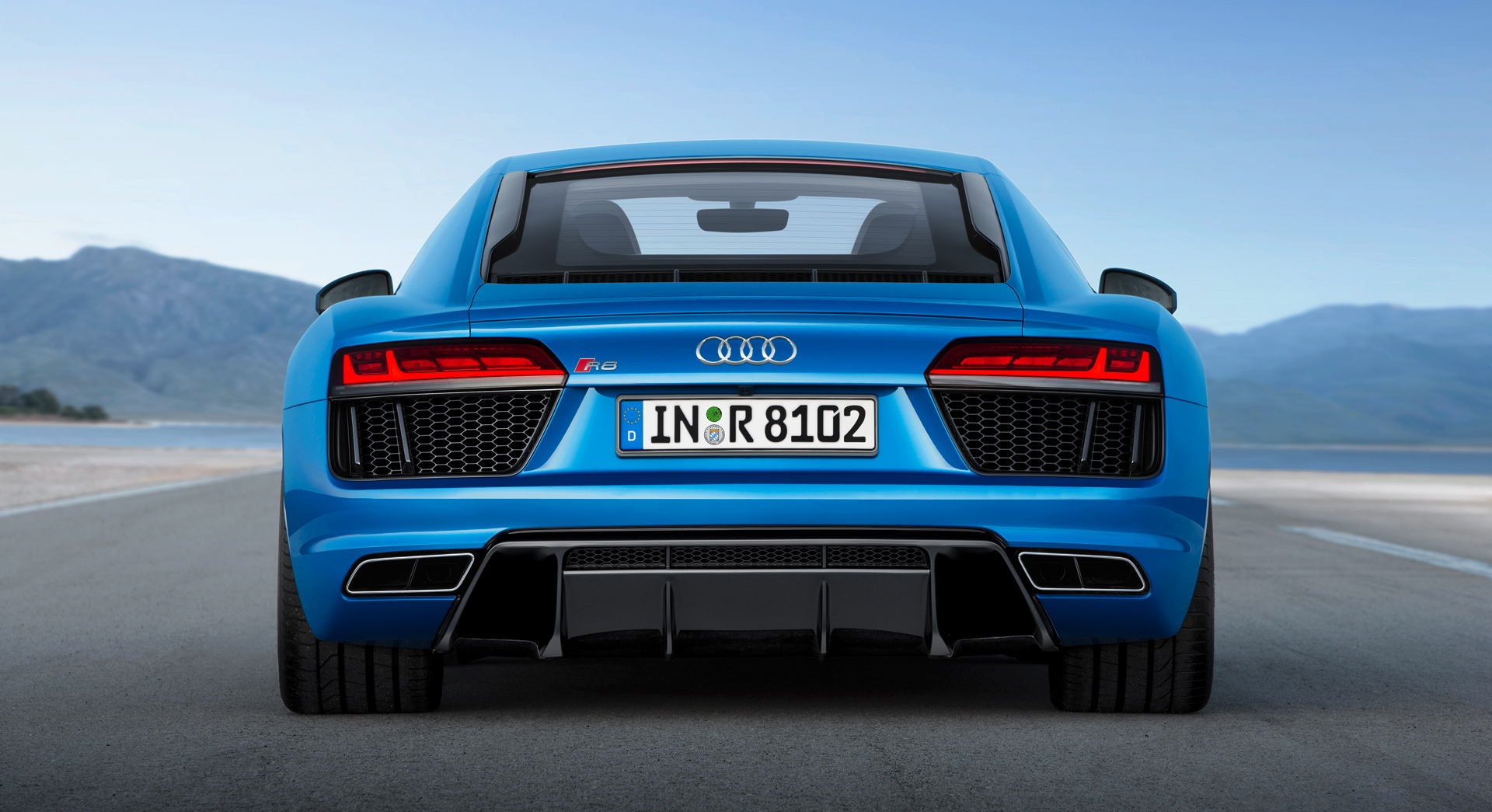 audi r8 v10 blue back hd