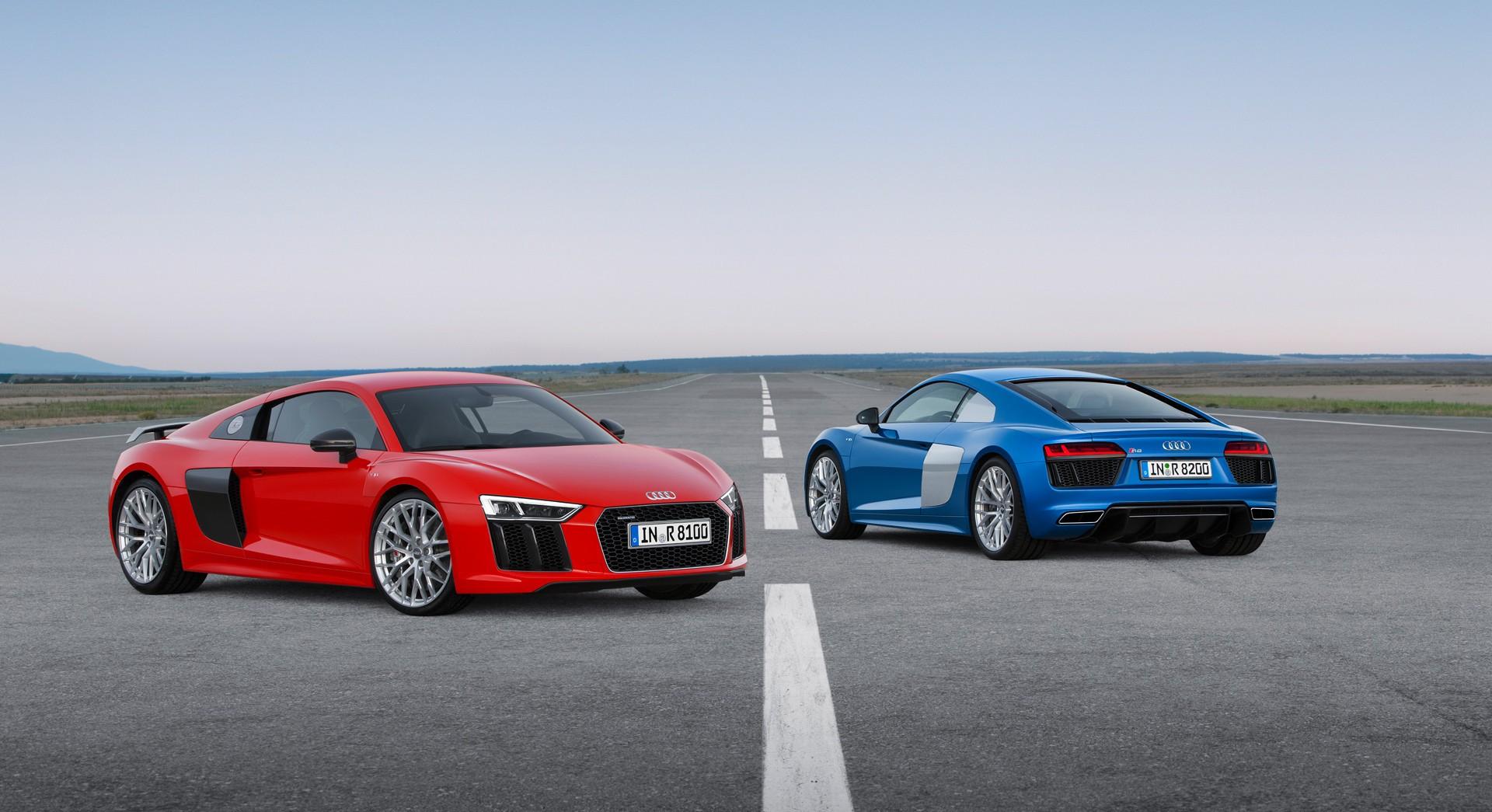 Audi R8 V10 Plus Blue Red Hd Desktop Wallpapers 4k Hd