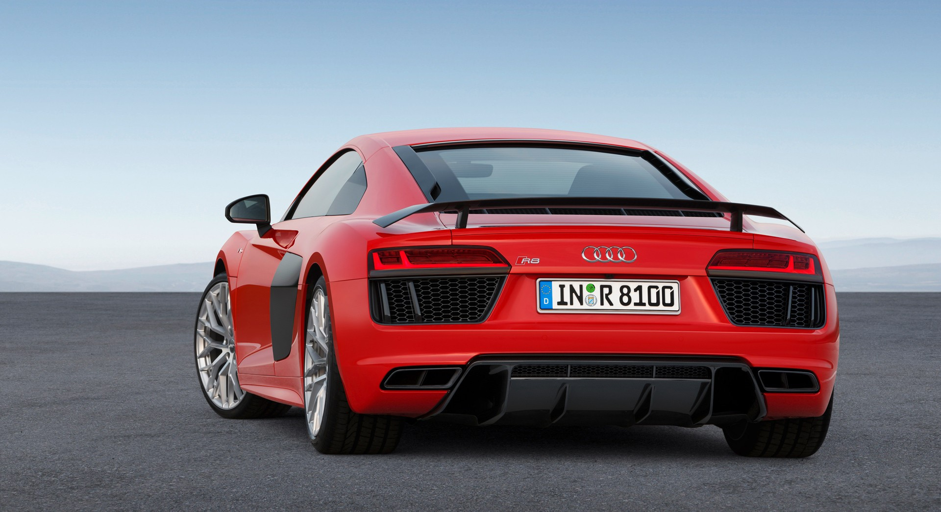 audi r8 v10 plus red back