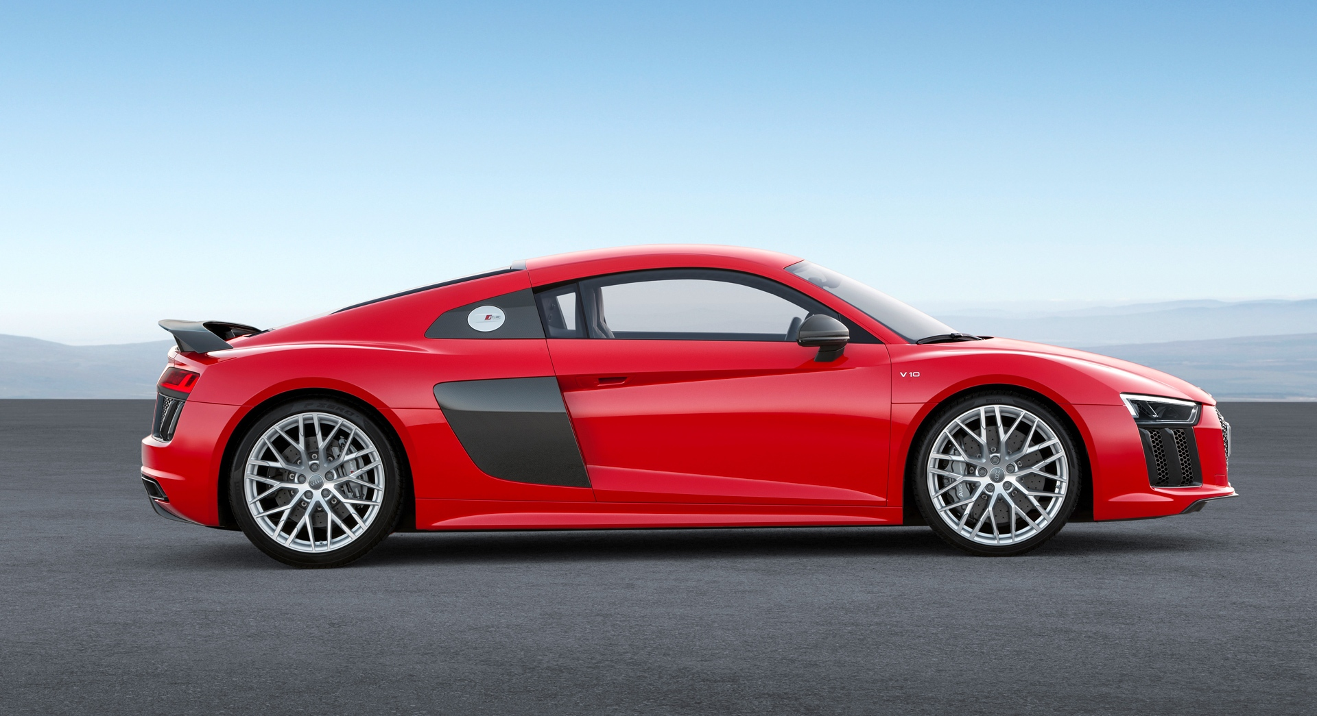 audi r8 v10 plus red sides