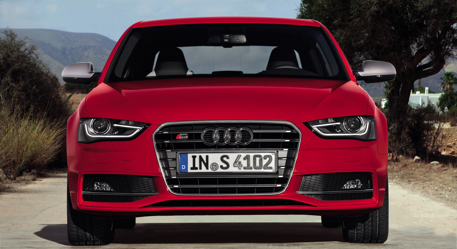 audi s4 red front