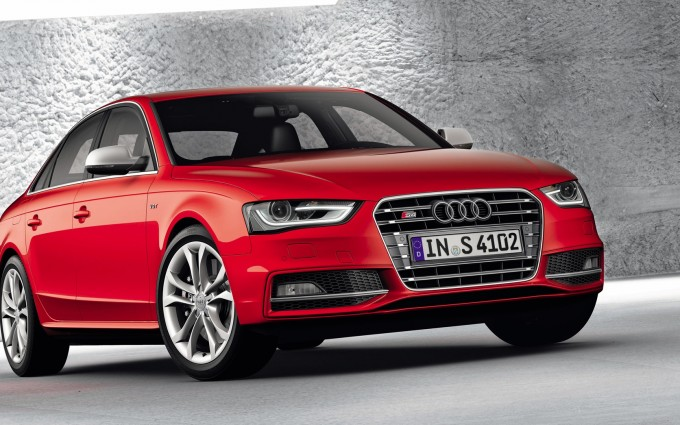 audi s4 red side front