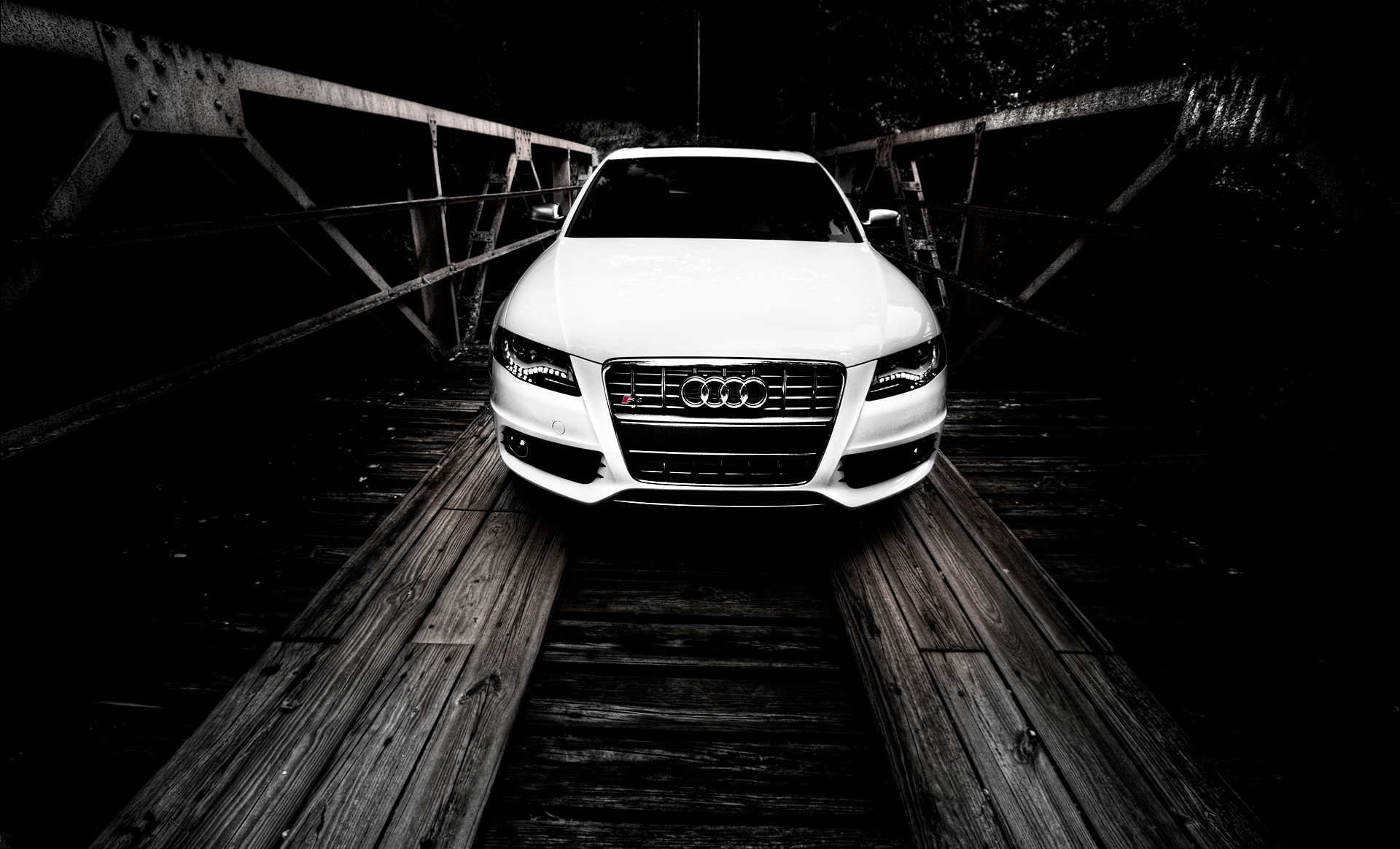 audi s4 white wallpaper