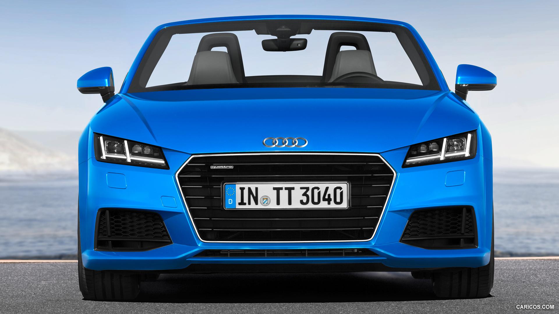 audi tt roadster blue front