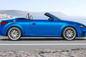 audi tt roadster blue sides