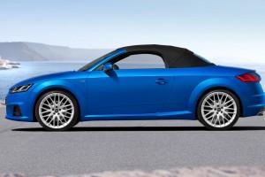 audi tt roadster blue soft top