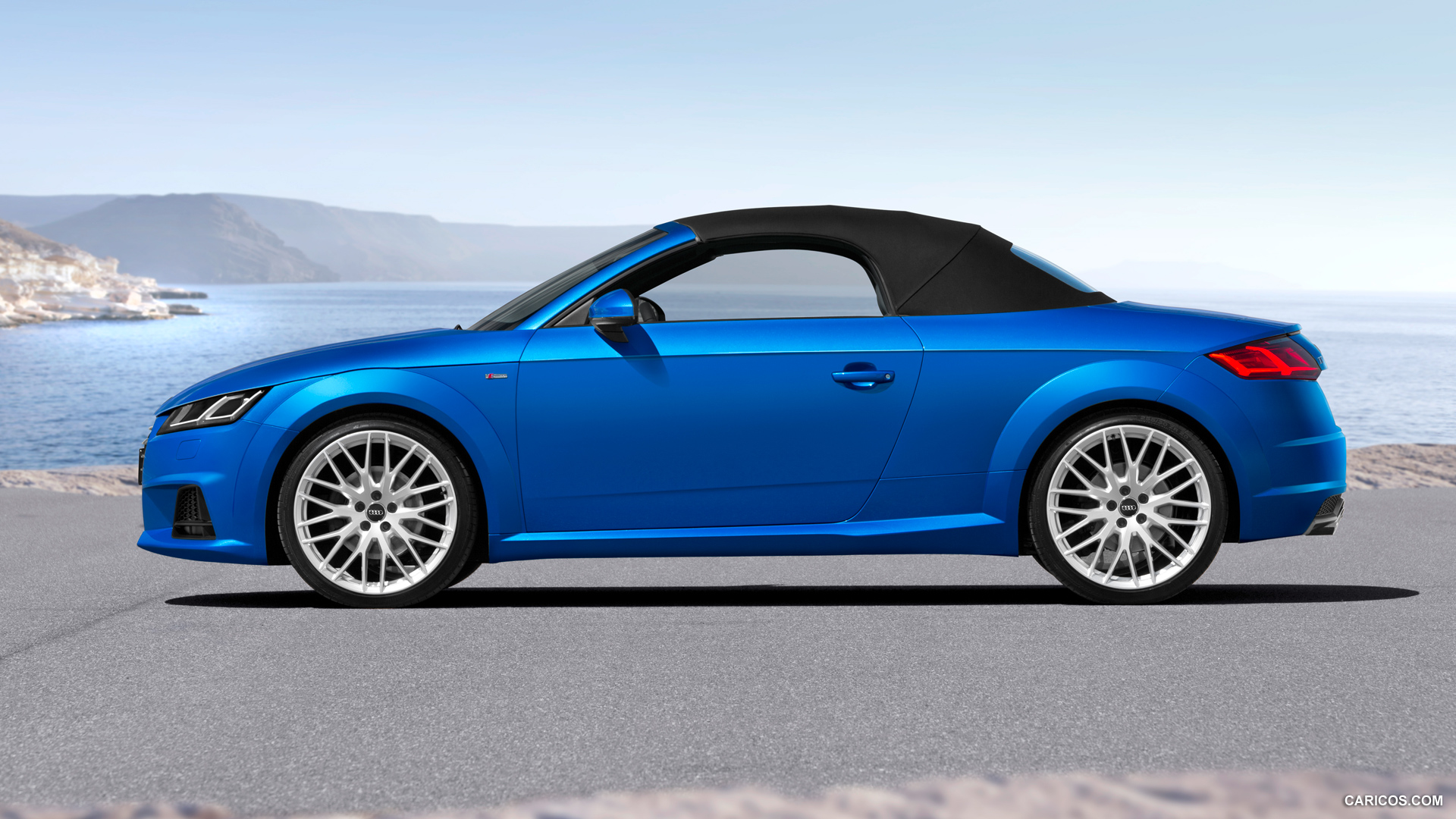 audi tt roadster blue soft top