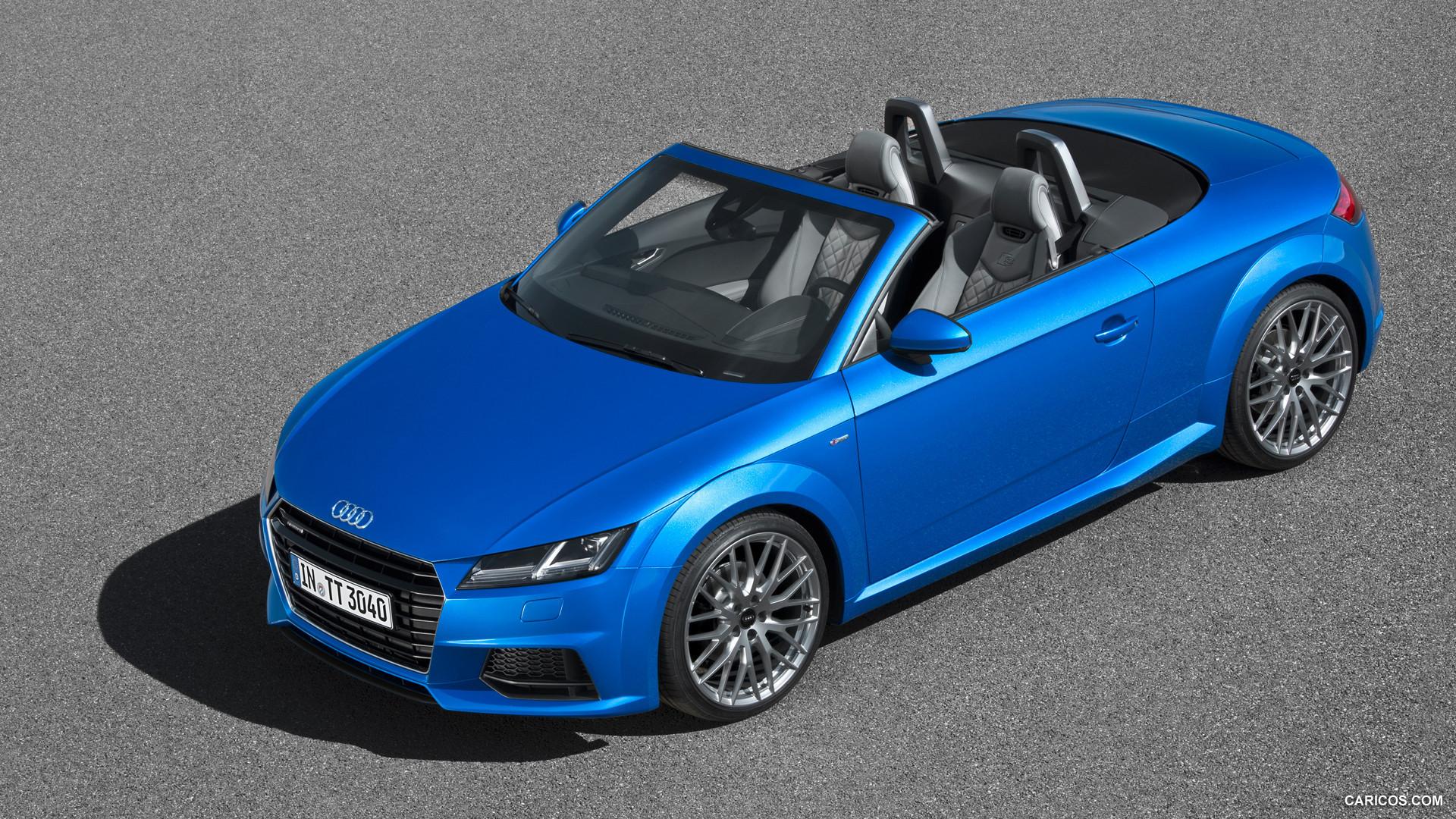 audi tt roadster blue view