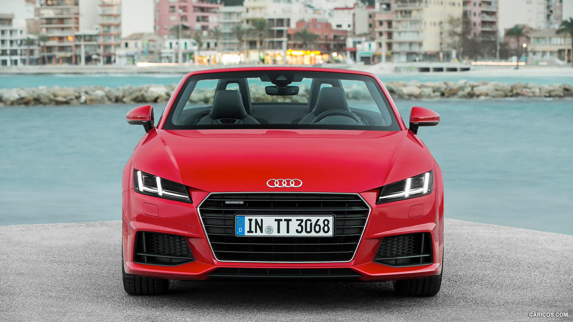audi tt roadster red front