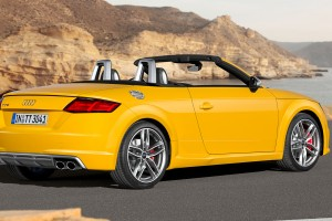 audi tt roadster yellow back