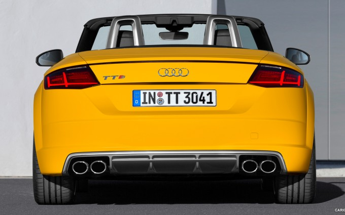 audi tt roadster yellow desktop