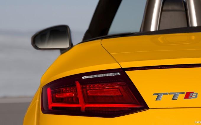 audi tts roadster yellow cool
