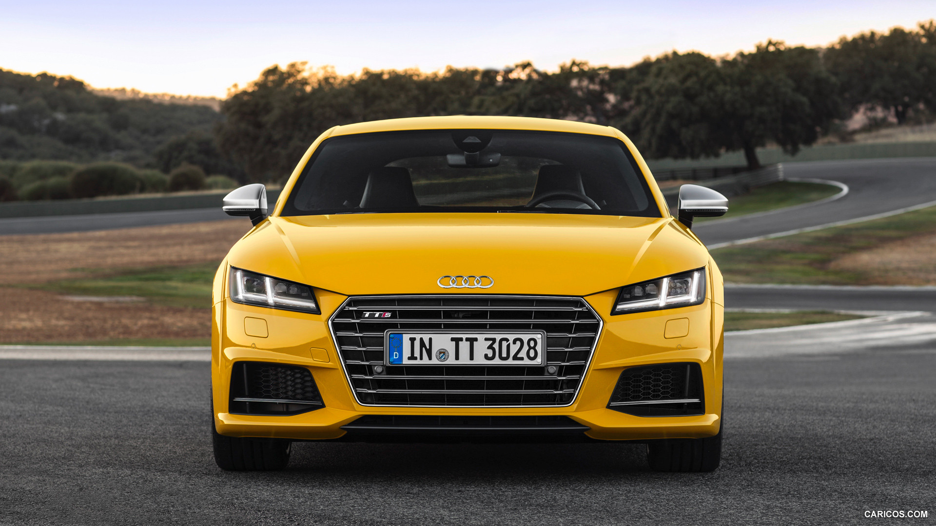 audi tts yellow front