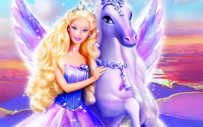 barbie wallpaper purple pony
