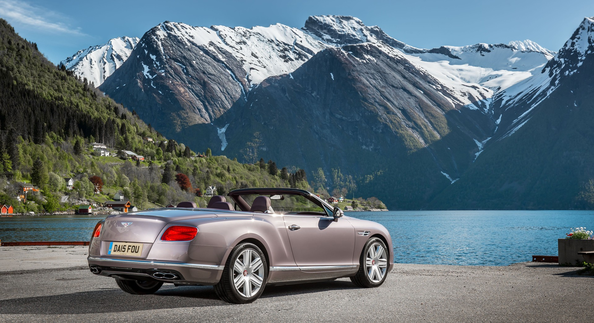 bentley continental gt convertible mountains