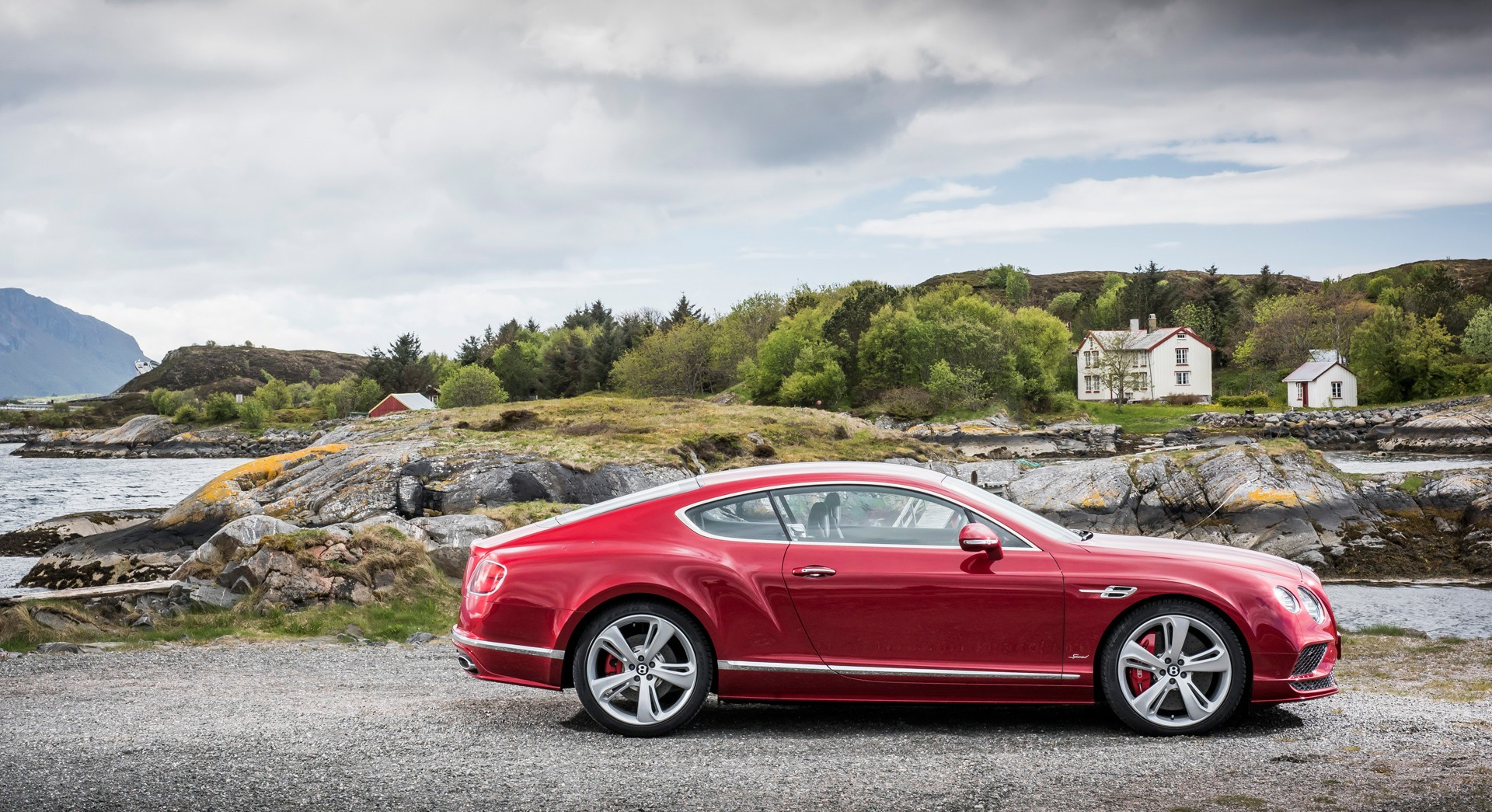bentley continental gt red hd