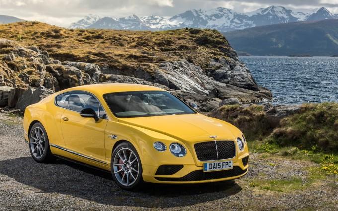bentley continental gt v8 yellow hd
