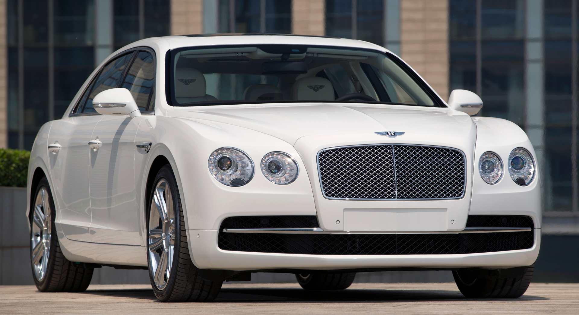 bentley flying spur white hd