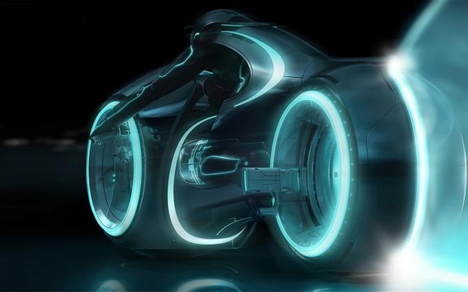 tron legacy wallpaper bike blue
