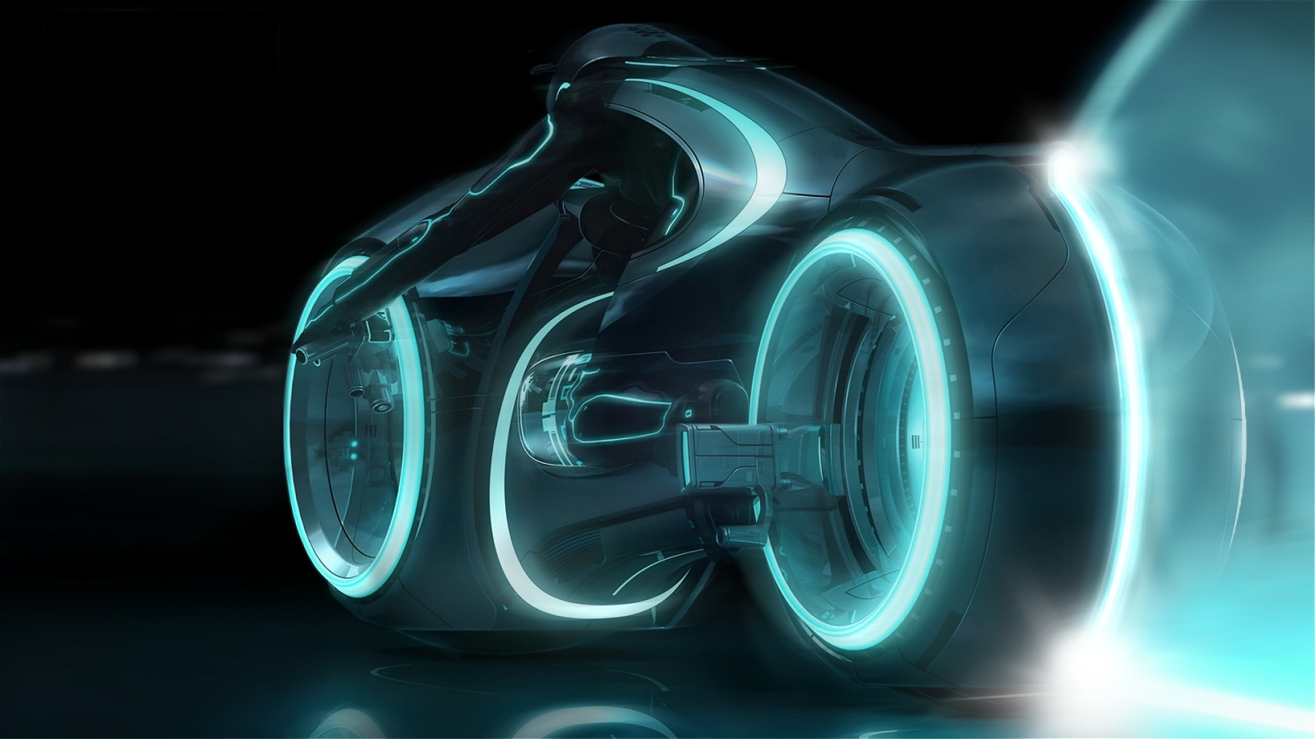 tron legacy wallpaper bike blue