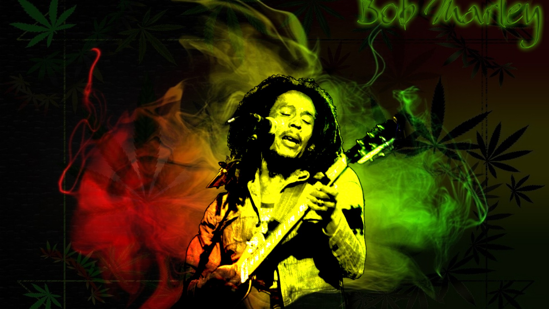 bob marley wallpaper guitar