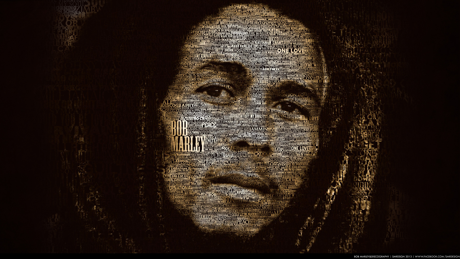 bob marley wallpaper typography