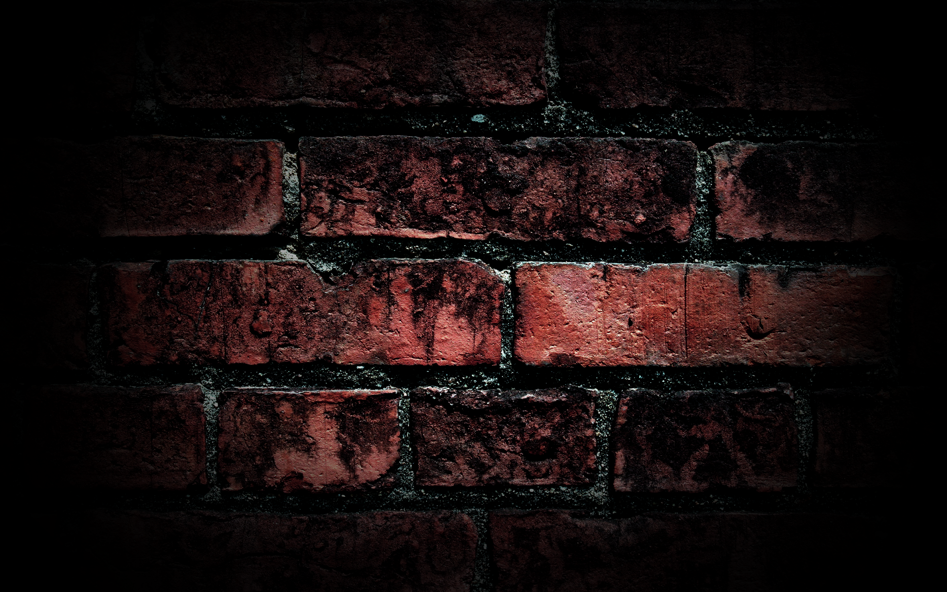 Brick wall background hd desktop wallpapers 4k hd for Black 3d brick wallpaper