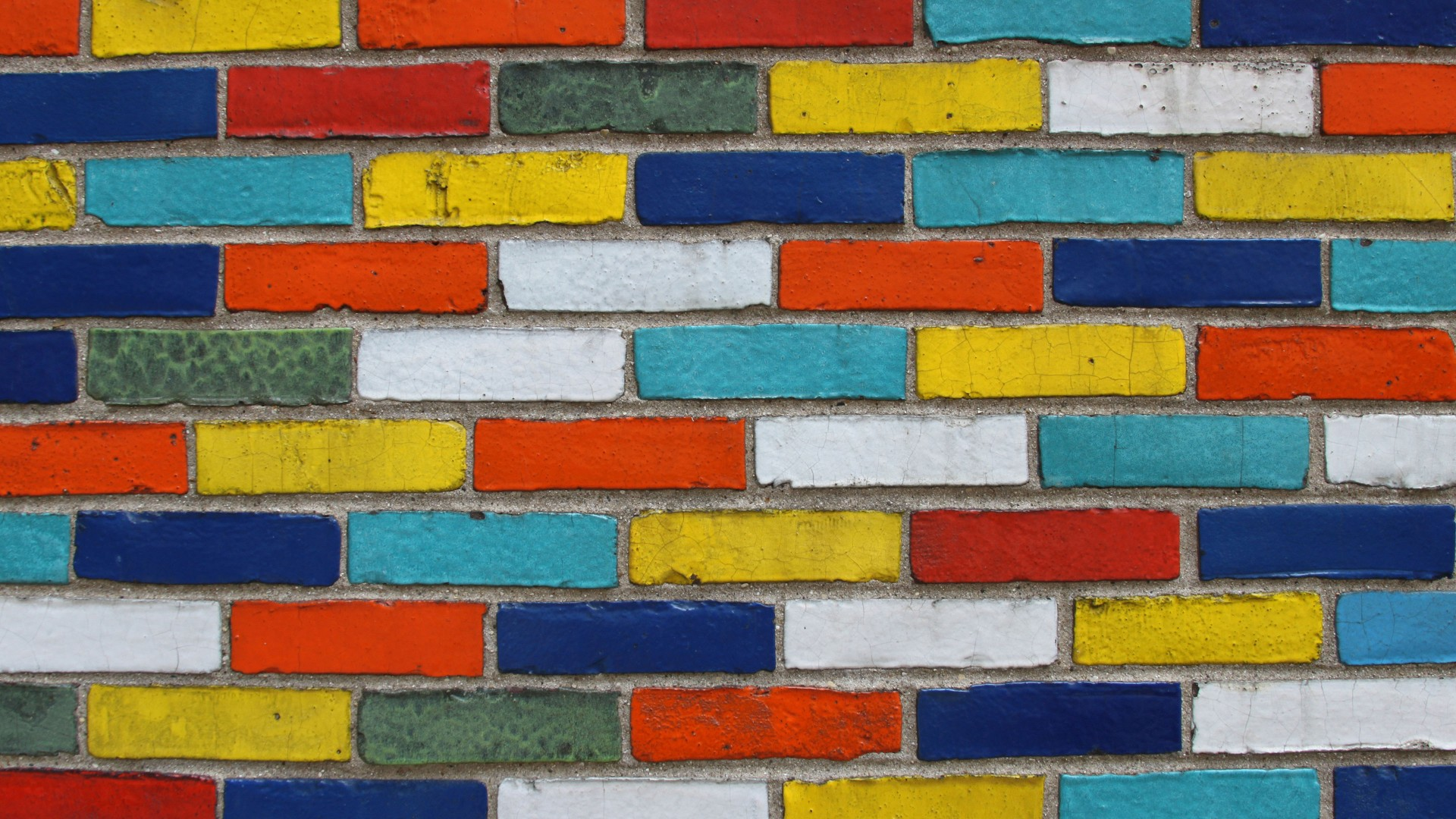 brick wallpaper Colorful
