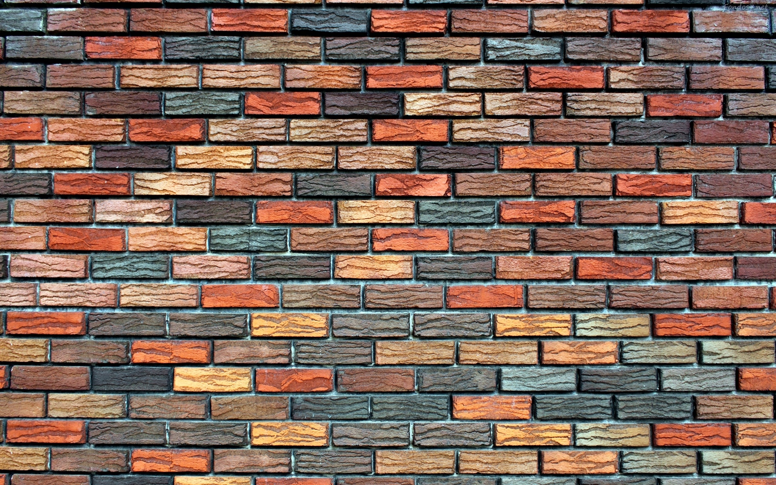 brick wallpaper colored