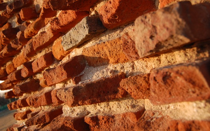 brick wallpaper countryside