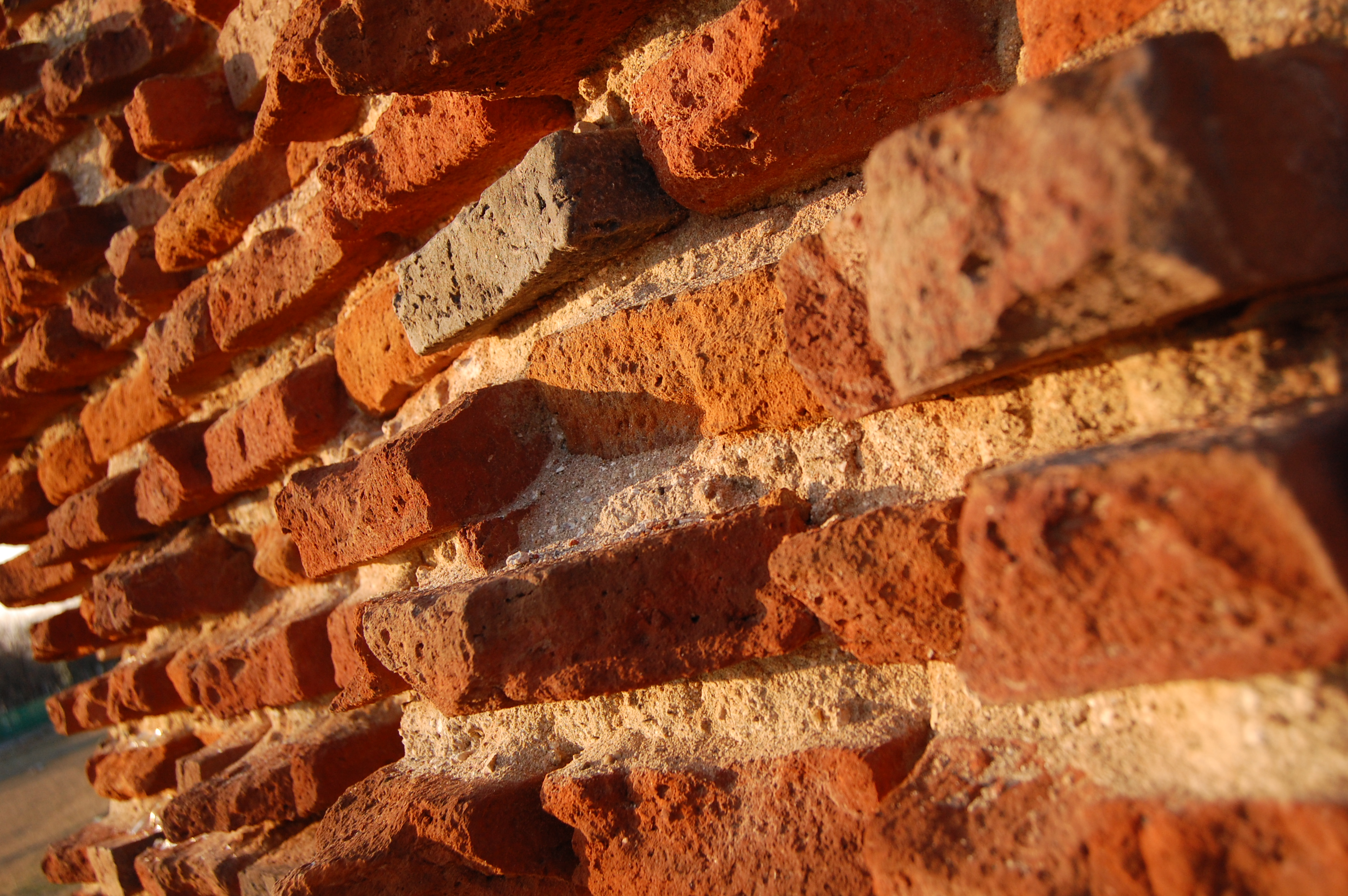 brick wallpaper countryside