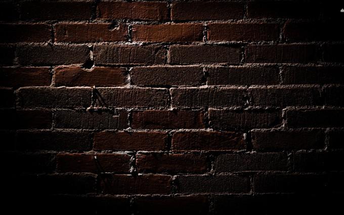 brick wallpaper dark