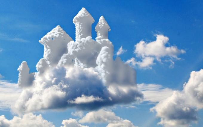cloud wallpaper castle
