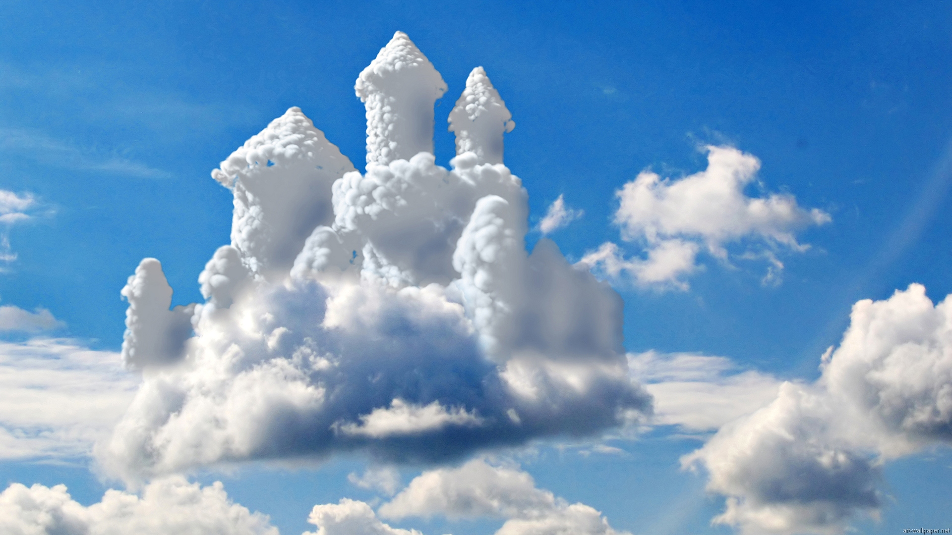 cloud wallpaper castle